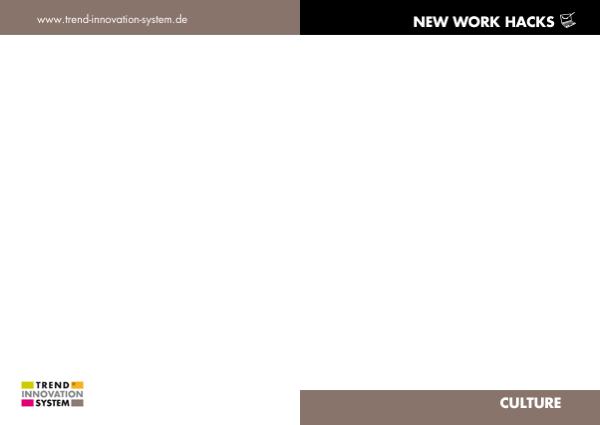 New Work Hack - zum Vergrößern anklicken!